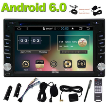 Android 6.0 Car Stereo In Dash Navigation GPS Car Radio 2 Din Vehicle DVD Player FM Radio OBD2 WiFi Mirrorlink+Reversing Camera