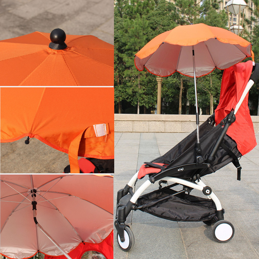 Baby Stroller Umbrella Portable Kids Children Pram Rain Cover Sun Shade Parasol Adjustable Folding Unbralla Stroller Accessories ...