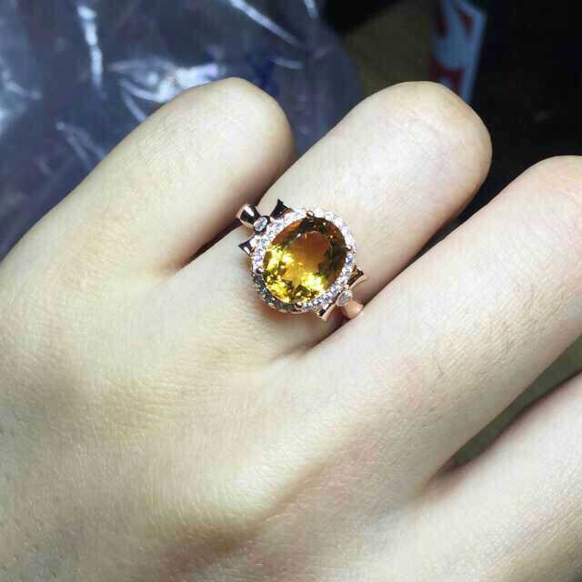 цена Natural citrine Ring Natural yellow crystal Ring 925Sterling Silver trendy trend Luxury big Circular women's Party fine Jewelry