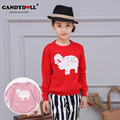 Children Girls Sweater Long-sleeve Pullover Girls Clothing Baby Girls Knitted Sweaters Cartoon Sheep Pattern 3-10 years SAJ3127