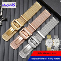 Solid stainless steel Milan mesh belt Fit for IWC Portofino male Portuguese seven day watch band 22mm Original style 20mm strap