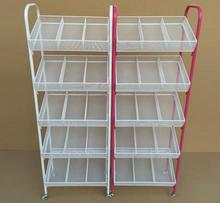 Small boutique shelves. Wrought iron nail polish shelf. Four layers trolley umbrella stand