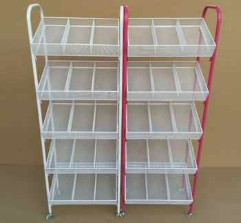 Small boutique shelves. Wrought iron nail polish shelf. Four layers trolley umbrella stand - Category 🛒 Furniture