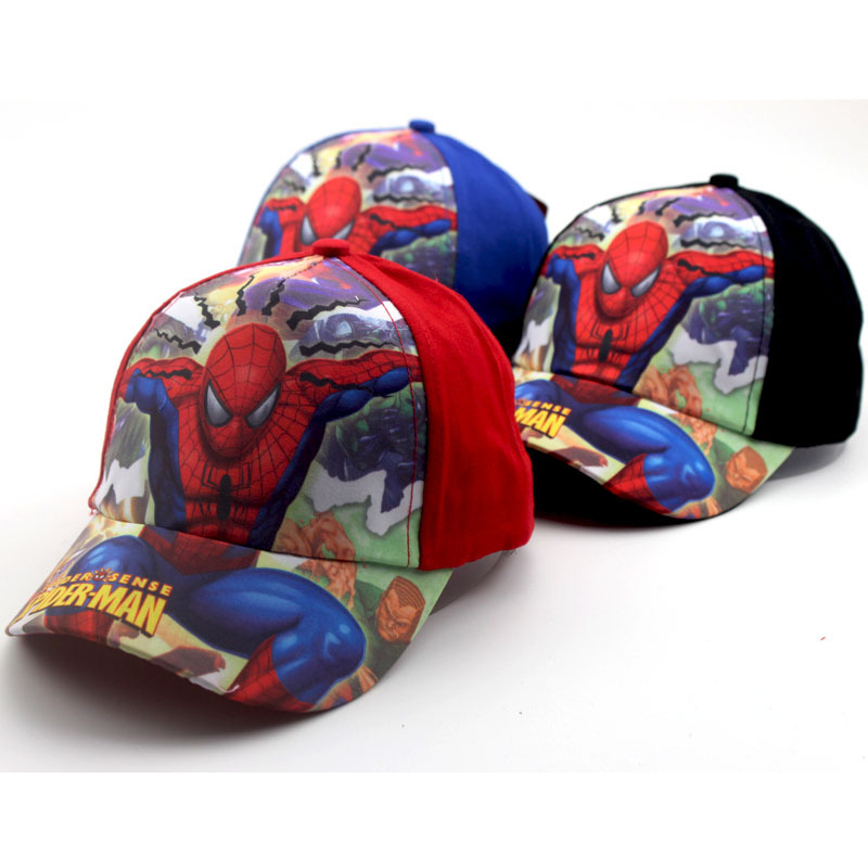Autumn Winter New Cartoon Anime Super Hero Spiderman Adjustable Baseball Caps For Children Boy Hip Hop Hats Cap 2017 new lace beanies hats for women skullies baggy cap autumn winter russia designer skullies