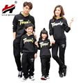 Autumn And Winter 2017 Long-Sleeved Cotton Hooded Home Clothing Mother Daughter Father Clothes Family Matching Clothes