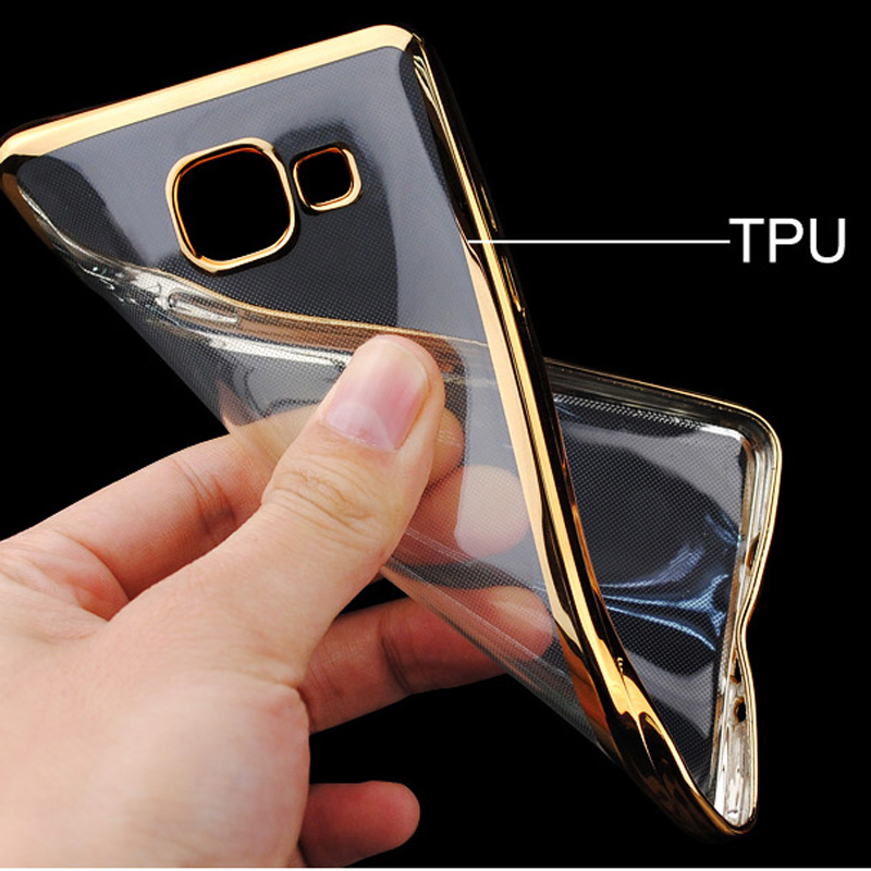 finest selection 5f0fe 77b20 US $4.99 |NKOBEE Coque For Samsung Galaxy A5 2016 Case Transparent For  samsung A5 2016 Case Gold TPU Back Cover A5 2016 5.2''Mobile Phone-in  Fitted ...