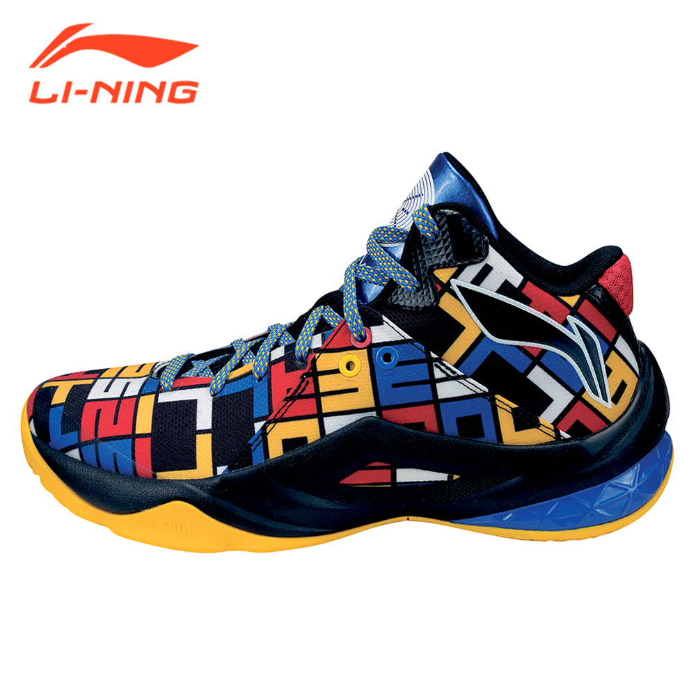 Li-Ning Men Professional Basketball Shoes LiNing Brand Wade Series Team 4 Competition Basketball Sports Sneakers ABAM013 li ning brand men basketball shoes sonicv series professional camouflage sneakers support lining breathable sports shoes abam019