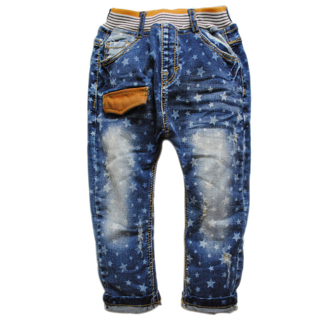 6320 jeans baby jeans boy girls casual kids denim pants spring autumn children's trousers  fashion  new 2016 nice