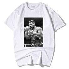 b3d86dc2bfca 2019 D'été De Mode Mike Tyson Affiche Imprimer Mens Camisa Hombre  Streetwear Cool Casual T Shirt Manches Courtes Hipster Hommes .