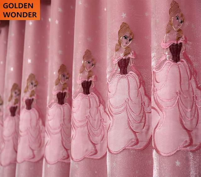 Superb New Arrival Curtains For Living Room Window Curtain Pink Princess Curtain  For Girls Chinese Blackout High Quality
