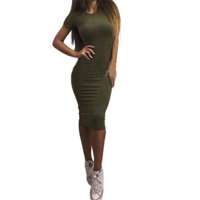 snowshine #3065  Women Fashion Sexy Solid Short Sleeve Slim Dress  FREE SHIPPING
