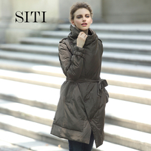 2016 women down warm long gift coat breasted jacket parka zipper fashion new winter outerwear suit collar new plus size thick