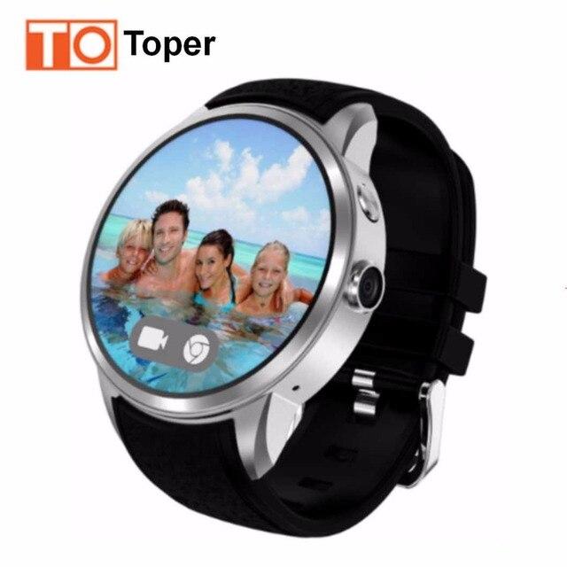 Toper 3 г Смарт часы GPS SmartWatch телефон 1.39 дюймов Android 5.1 MTK6580 1.3 ГГц 512 МБ + 8 ГБ Смарт часы BT 4.0 Беспроводные устройства