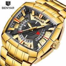 Benyar Men Watch Top Luxury Brand Military Reloj Hombre Stee