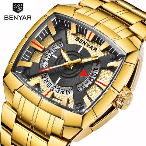 Benyar Men Watch Top Luxury Brand Military Reloj Hombre Steel Quartz Watches Waterproof Sport Wrist watches Casual Montre Homme Pakistan