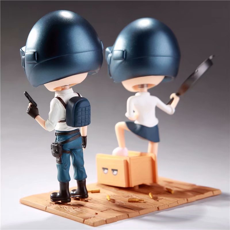 2pcs/set Game Playerunknowns Battlegrounds PUBG Character Q Version Figures Toys Birthday Gift no retail box (Chinese Version) 3