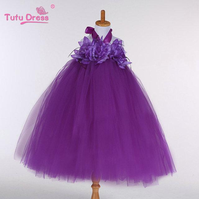 Nueva Llegada de los Bebés Niños Niños de La Manera Del Tutú de la Flor Vestido de La Muchacha de Cumpleaños Del Banquete de Boda Vestidos de ropa de Vestir