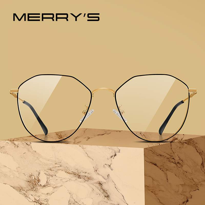 MERRYS DESIGN Women Fashion Trending Glasses Frame Unisex Myopia Prescription Optical Eyeglasses S2017