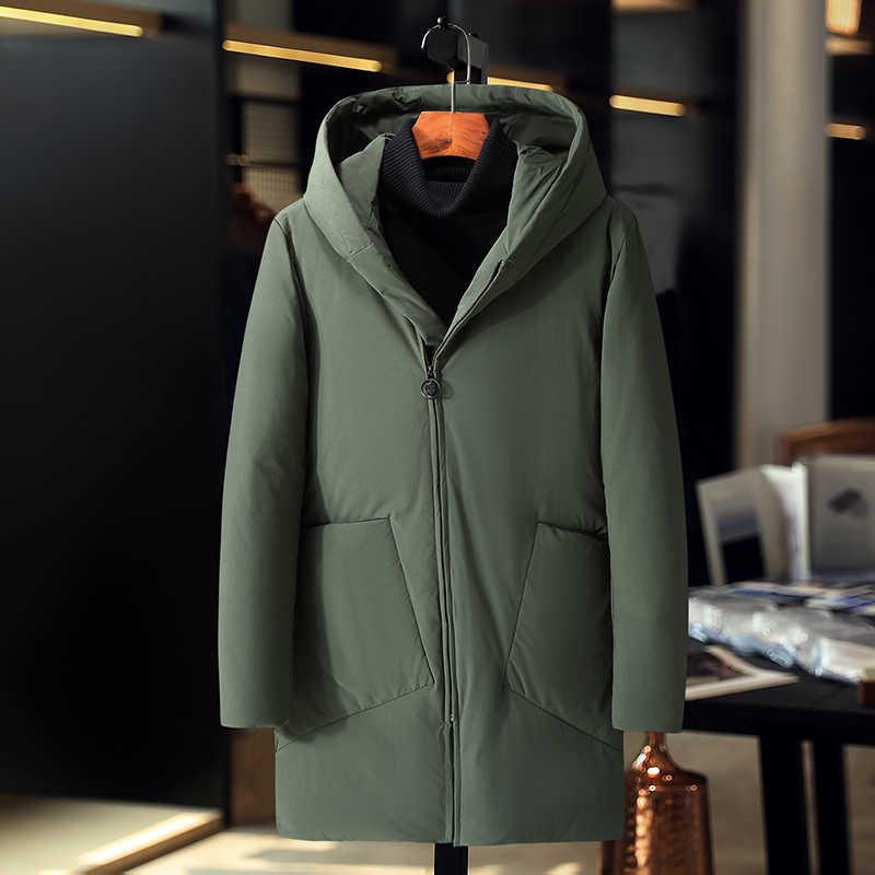 Abrigo de hombre parkas de nieve para hombre ropa de marca cálida chaqueta de invierno chaqueta de plumón para hombre de alta calidad 90% de pato blanco chaquetas gruesas de plumón