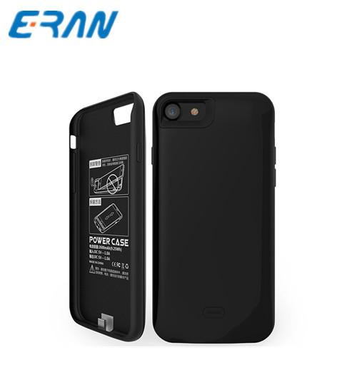 Nueva silicio caso banco de la energía 5200 mah caja de batería de reserva externo para el iphone 7 portátil super slim 2600 mah caso de la energía