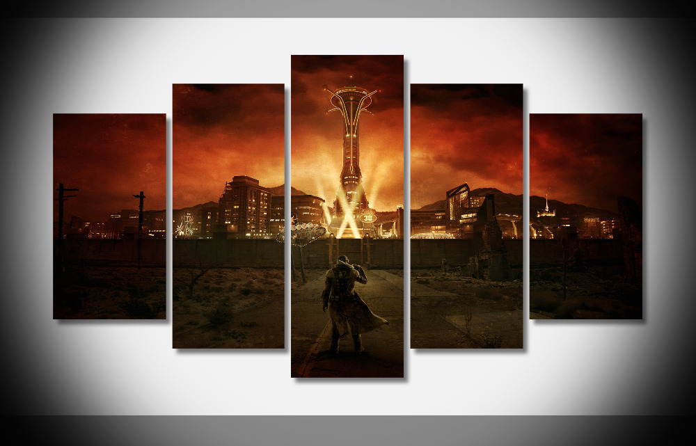 7202 Fallout New Vegas Poster Wood Framed Gallery Wrap Art