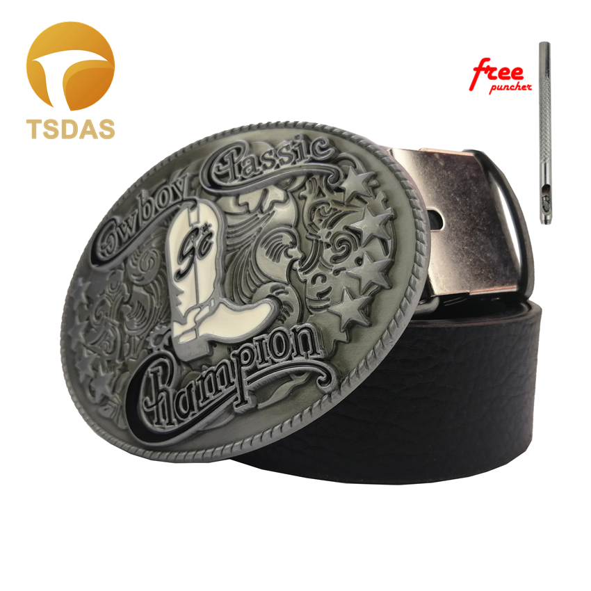 Cowboy Champion Classic Boots Belt buckle Men and Women Fashion Jeans accessories Belt Buckle With Belt in Buckles Hooks from Home Garden