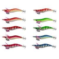 10 pz Gamberetti Esche Da Pesca Esche Artificiali Polpo Squid Jigs Seppie Spedizione Fisher
