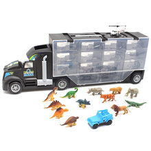 Dinosaur Model Transport Vehicle Tractor Animal Doll Truck Toy Or Children Funny Container