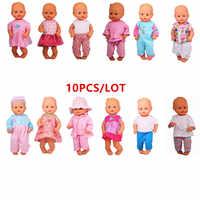 Ropa de muñeca de 13 pulgadas de ajuste 35cm Ropa de muñeca de nénuco y su hermana nénuco Accesorios 10 unids/lote diferentes trajes/vestidos
