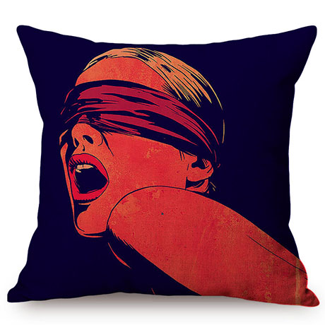 Nordic Sexy Woman Vintage Style Cotton Linen Sofa Decorative Pillow Case Fashion Girl Charm Charming Love Chair Cushion Cover M079-7