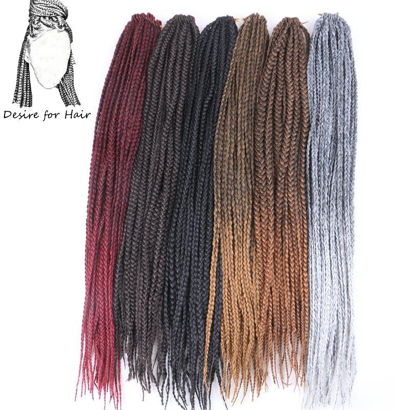Desire for hair 10 пачек 24 дюйма 100 г 22 пряди в упаковке 3x плетеные косички для вязания крючком синтетические наращивание волос черный коричневый цвет