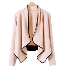 Casual Chic Loose Short Cardigan Bolero Shrug Irregular Women's Coat Jackets