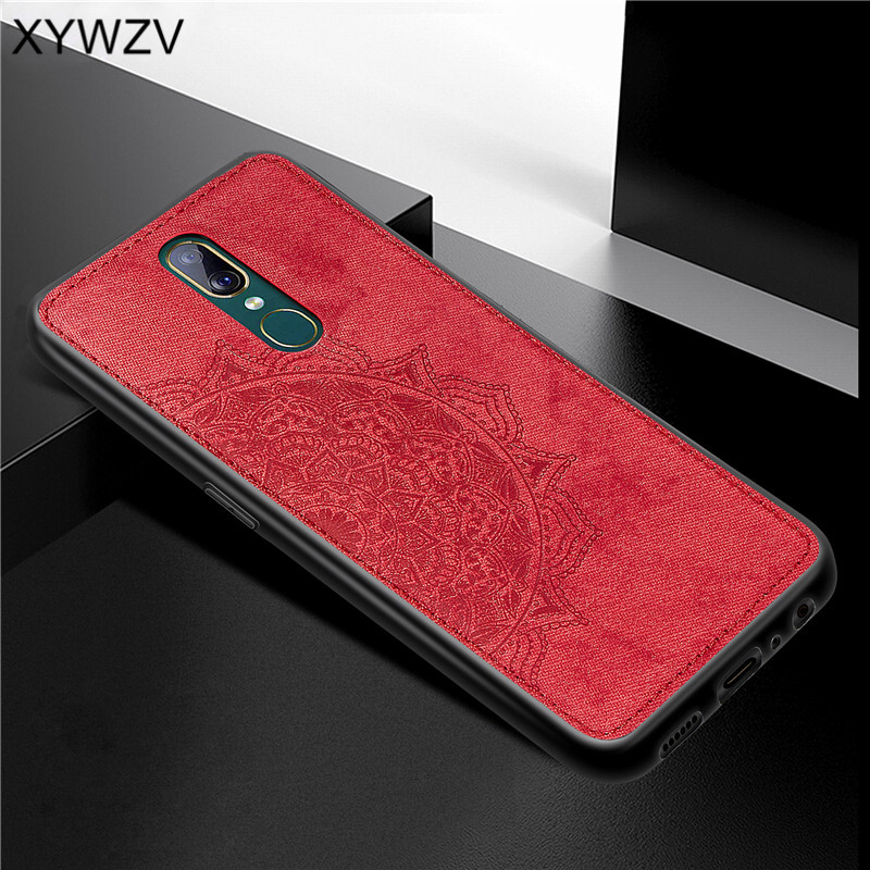 Image 2 - For OPPO A9 Case Shockproof Cover Soft Rubber Silicone Luxury Cloth Texture Phone Case For OPPO A9 Back Cover For OPPO A9 Fundas-in Fitted Cases from Cellphones & Telecommunications
