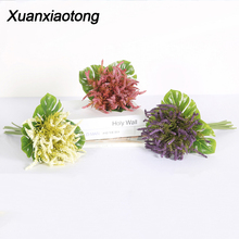 Get more info on the Xuanxiaotong White Lavender Foam Artificial Flowers Bouquet Purple Schaum lavender Magnolia Flowers for Fall Home Decoration