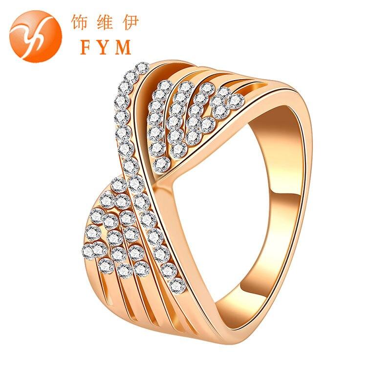 Роскошный дизайн кристалл стиль обещание кольца для женщин свадебные ну вечеринку женщина старинные ювелирные изделия модные новые