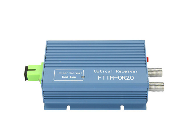 Image 2 - CATV FTTH Receiver AGC Micro SC APC Duplex Connector with 2 output port WDM for PON FTTH OR20 CATV Fiber Optical Receiver-in Fiber Optic Equipments from Cellphones & Telecommunications