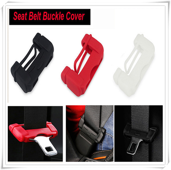 Car Safety Belt Buckle Covers Silicon Seat Accessories for BMW M8 M550i M550d M4 M3 M240i M140i 530i 128i i8 Z4 X5 X4 image