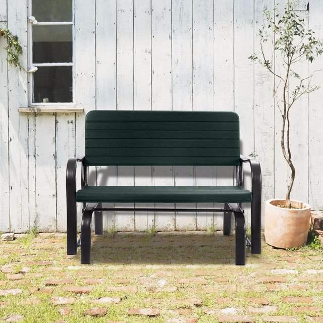 Us 99 99 Outdoor Patio Swing Porch Rocker Glider Bench Loveseat Garden Seat Steel Op2970 On Aliexpress