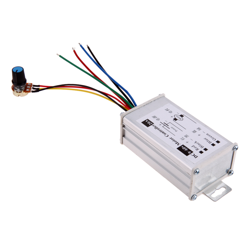 Consumer Electronics Digital Cables Pwm Dc 9-60v 20a 1200w 25khz Motor Speed Controller Speed Regulator Switch