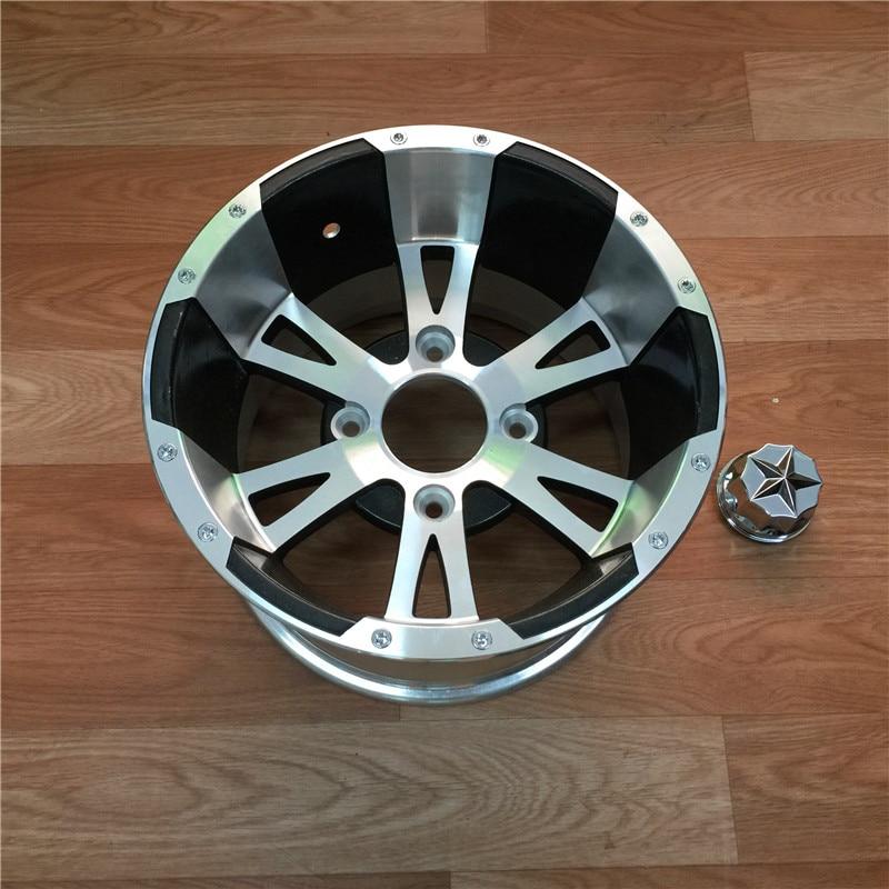 STARPAD pour les roues en alliage d'aluminium ATV à lame ornée de 12 pouces peut être équipé d'un pneu plat/pneu tout-terrain basse pression de 12 pouces