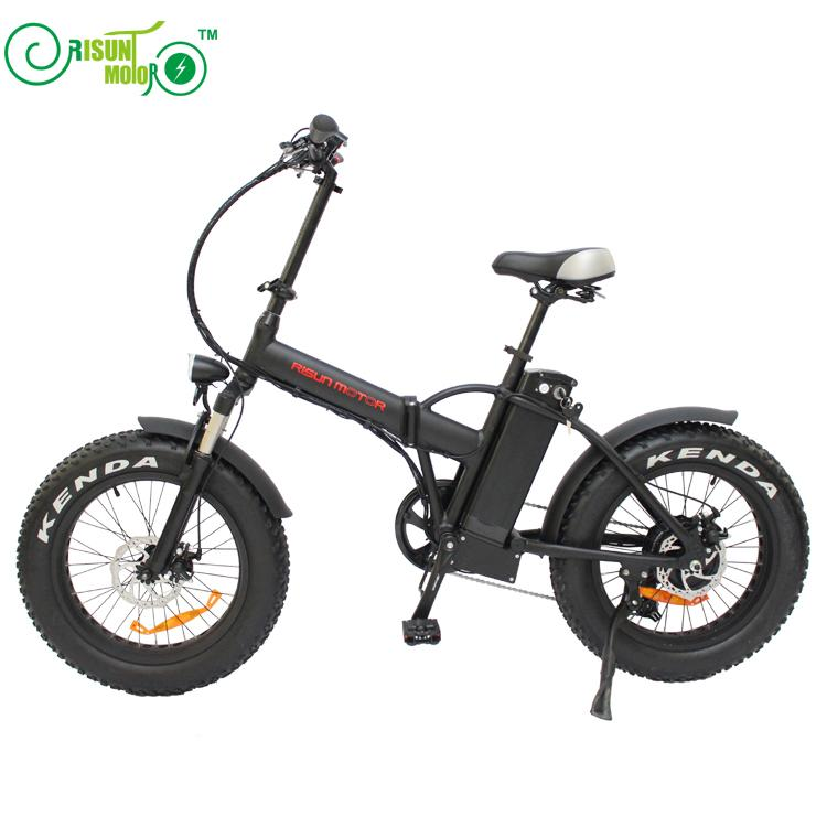 RisunMotor Mini Foldable Ebike 36V 500W 8Fun/Bafang Hub Motor 20 Inch Fat Tire Electric Bicycle With 36V 15AH Lithium Battery free shipping conhismotor bafang 36v 48v 500w brushless geared threaded fat tire rear hub motor width 175mm for electric bicycle