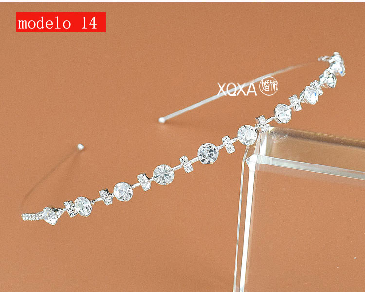 Moda feminina strass cristal cabeca bandagem no cabeca coroa Tiara de noiva de cabelo acessorios (4)
