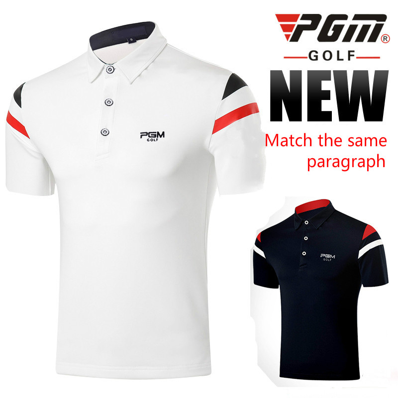 2018 PGM golf clothing mens short sleeved T-shirt Summer Breathable Soft Comfortable golf Polo shirts for men Size M-XXL
