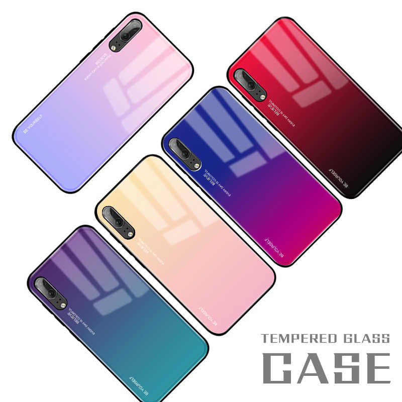 Gradient Tempered Glass Case For Huawei Mate 20 Lite Mate 10 P20 Lite Pro Nova 3i 2i 3e 3 4 P Smart Plus 2019 Luxury Cover Shell