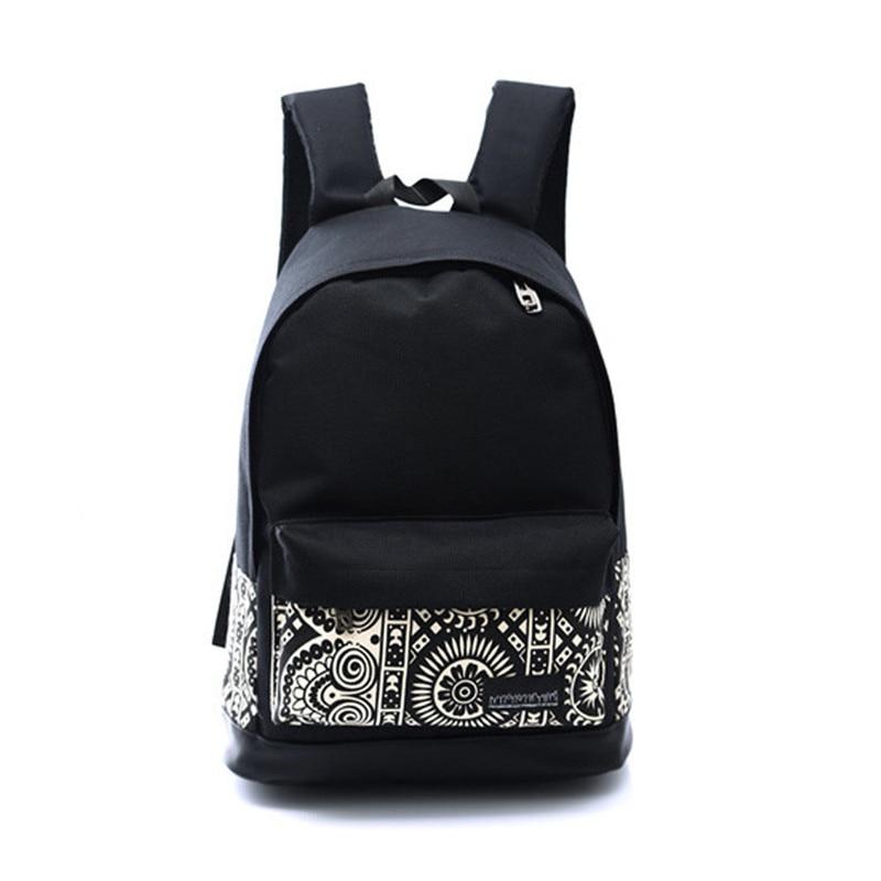 Backpack For School Teenagers Girls Vintage Stylish School Bag Ladies Canvas Backpack Female Back Pack