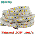 5M DC12V Waterproof LED Strip 5050 SMD Flexible Light 60Led/m, 5m/lot, White, Warm white, Red, Green, Blue, RGB, Free shipping