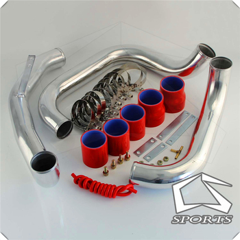 TURBO INTERCOOLER PIPE KIT SILVER Fits FOR N**ISANN S**KYLINE R32 GTST SILICONE HOSE