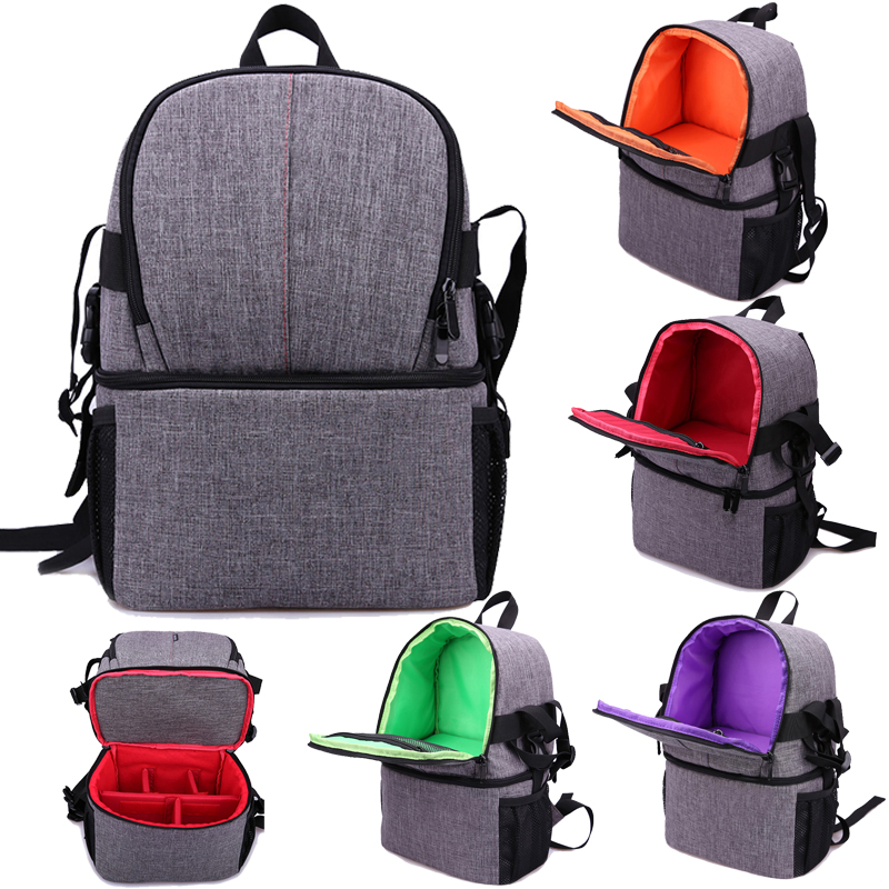 Backpack DSLR Camera Bag Case Travel Shoulder Messenger Bags for Nikon D7500 D7200 D7100 D7000 D5300 D5200 D3500 Z7 Z6 D3 D3s