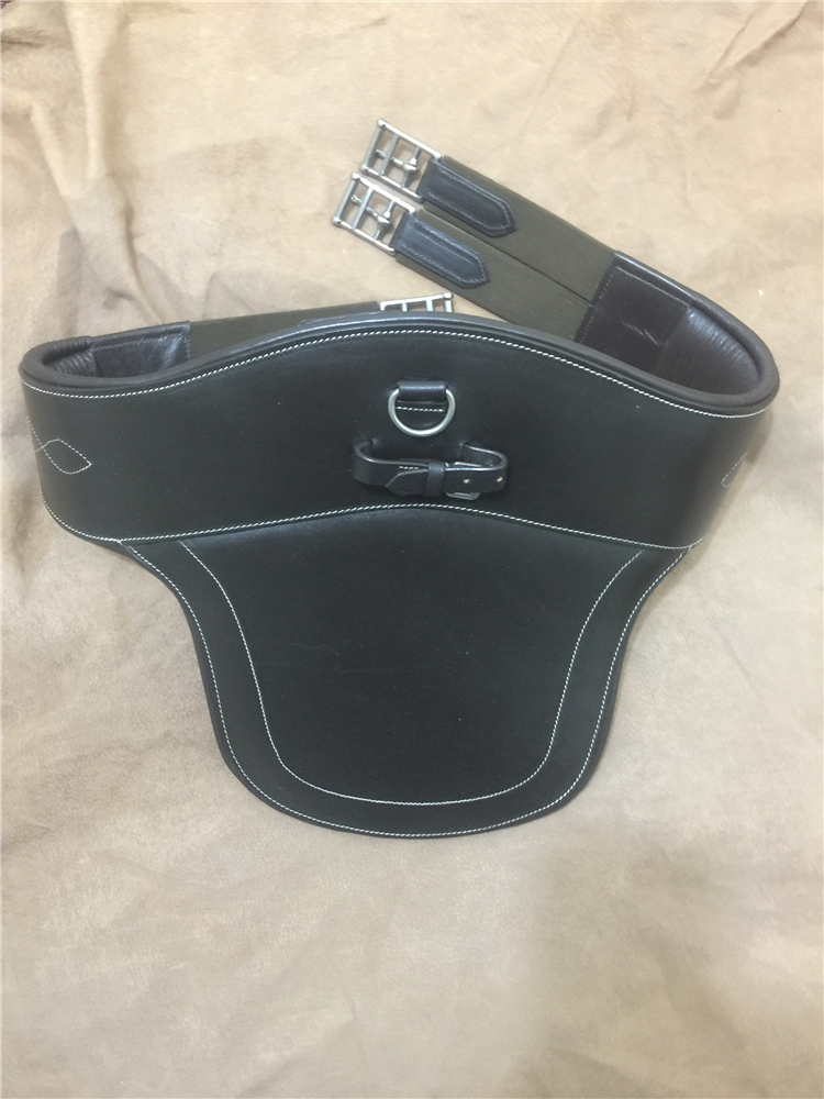 Cowhide Barrier, Equestrian Horse Saddle, Saddle Accessories, Pure Cowhide Wide Girth Equestrian Equipment