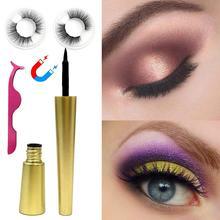 5 Magnetic 6D Eyeliner Magnet False Eyelashes Handmade 3D Lashes Natural Eyelash